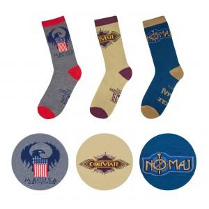 Harry Potter Fantastic Beasts Socks 3-Pack MACUSA